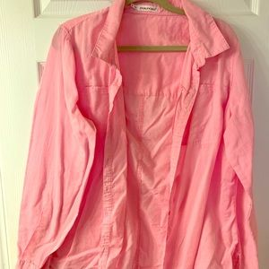 Maurices plus sz 2 pink ls button down shirt